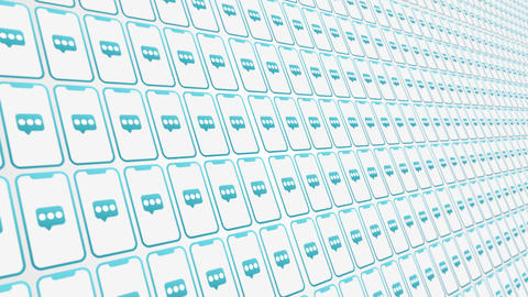 Smartphones pattern messages animated background Animation