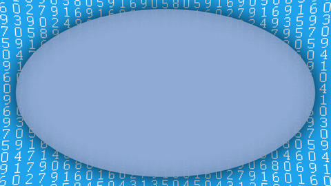 Numbers pattern blue ellipse frame animated background Animation