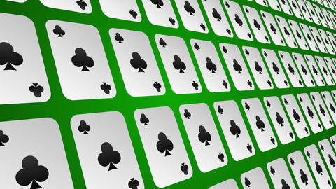Playing card suits clubs pattern close up animated background Animation