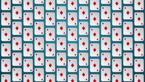 Playing card suits diamonds pattern animated background Animation