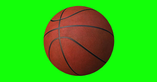 Basketball Ball Rotates Seamlessly on a Green Screen Live Action