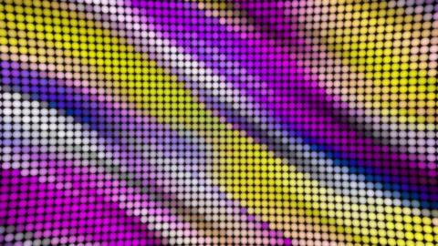Shining bulbs balls RGB led panel animated background Animation