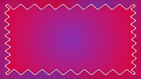 Gradient cartoon zigzag purple frame animation Animation