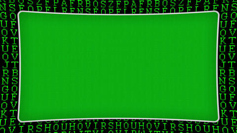 Letters of the alphabet green pattern frame animated background Animation