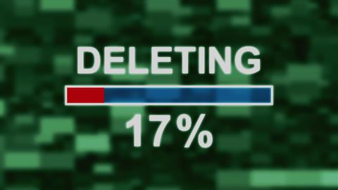 Deleting progress bar countdown computer screen animation Animation
