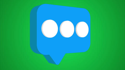 Message rotating icon 3d animation rotation Animation
