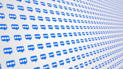 Message icons social media network pattern animated background Animation