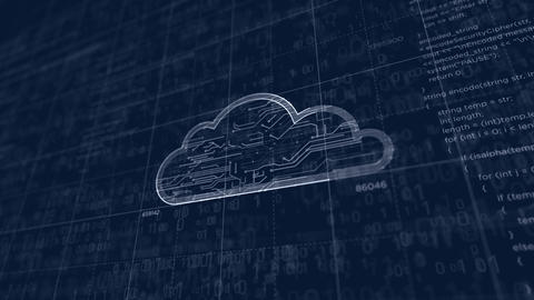Cyber cloud symbol project creating Animation