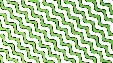 Cartoon zigzag green white lines animated background Animation