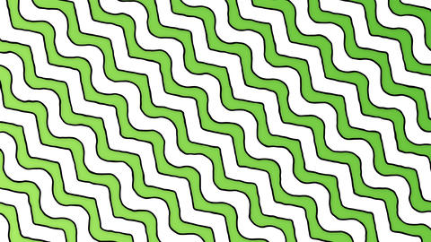 Cartoon zigzag green white lines animated background Stock Video Footage