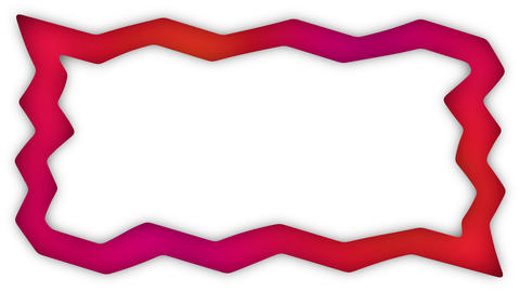 Gradient red zigzag rectangle frame animation Animation