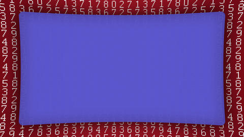 Numbers red pattern blue frame animated background Animation