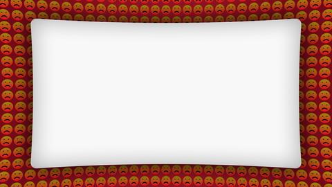 Angry sad smile icons frame animated background Animation