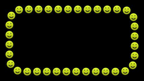 Happy smile icons frame border Animation