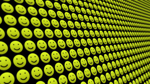 Happy smile icons pattern animated background Animation