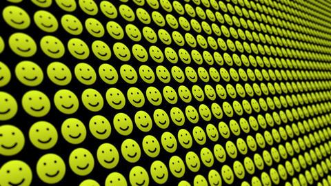 Happy smile icons pattern animated background Animation