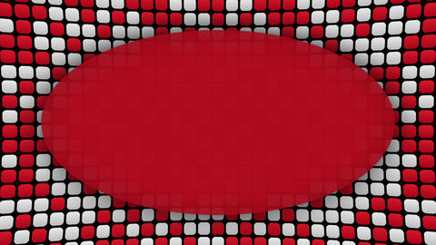 White and red rectangles frame animated background Animation