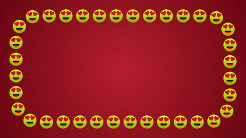 Lovely happy smile icons frame Animation