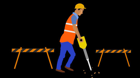 Construction Man Animation