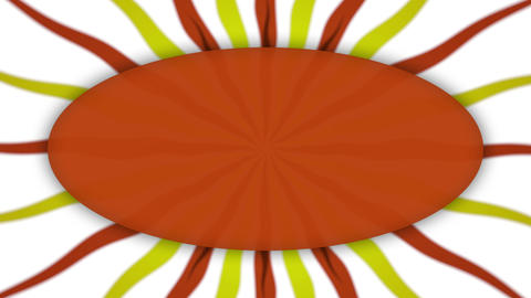 Frame banner on wavy shapes orange animation Animation
