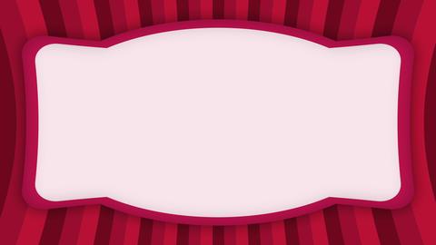 White frame banner on red stripes animation Animation
