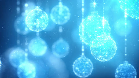 Christmas Ornaments Background Animation