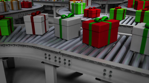 Animated Christmas Factory Animation