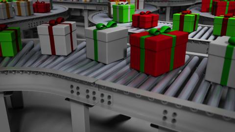 Animated Christmas Factory CG動画素材