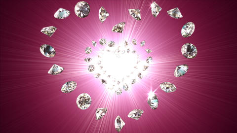 Diamond Heart Background Animation