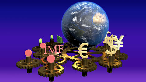 Global finance concept, global business background, forex Live Action