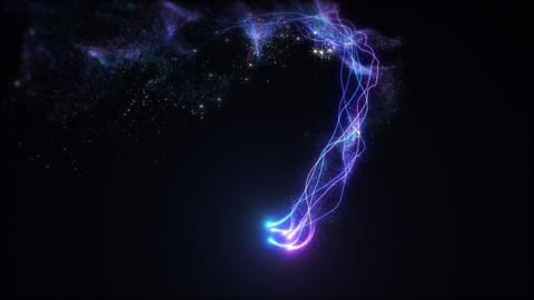 Loopable Neon Fairy Dust Zoom Animation