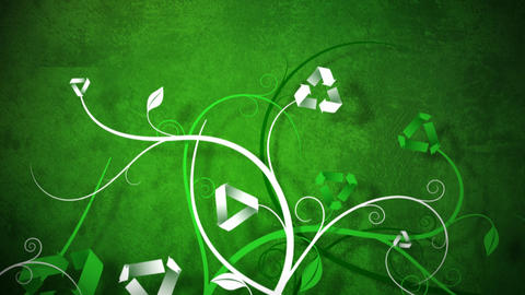 Growing Recycle Vines Background Animation