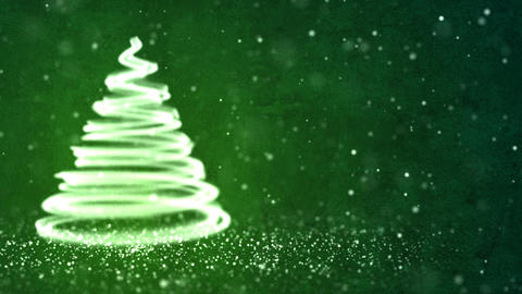 Christmas Tree Background Loopable Animation