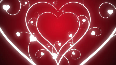 Looping Hearts Grow Background Pink Animation