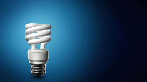 Compact Fluorescent Lightbulb Background Animation