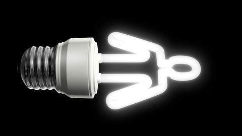 Compact Fluorescent Lightbulb Person Animation
