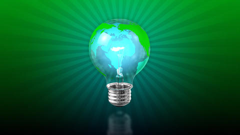 Loopable Earth Light Bulb Background Animation
