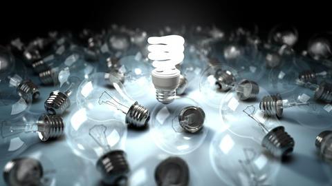 Lonely Lightbulb Background Animation