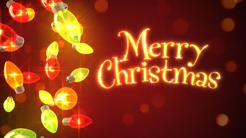 Loopable background of Christmas lights Animation