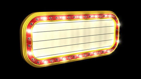 Loopable Theater Marquee Stock Video Footage