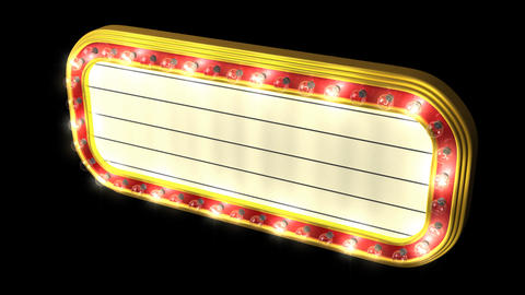 Loopable Theater Marquee Animation