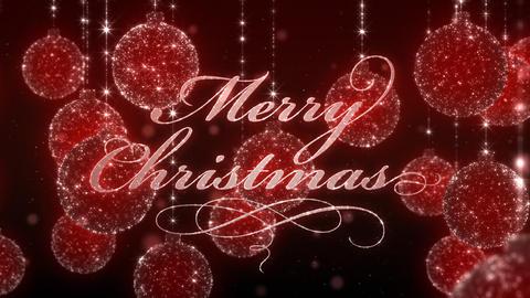 Chrsitmas Ornaments Background Animation