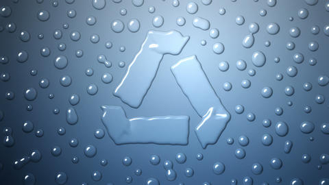 Recycle Water Drops Background Animation