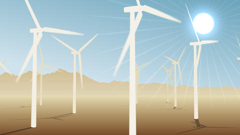 Loopable Wind Power Loopable Stock Video Footage