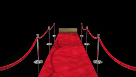Loopable Red Carpet Background CG動画素材