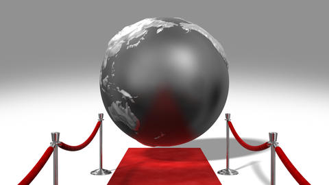 Red Carpet Earth Background Animation