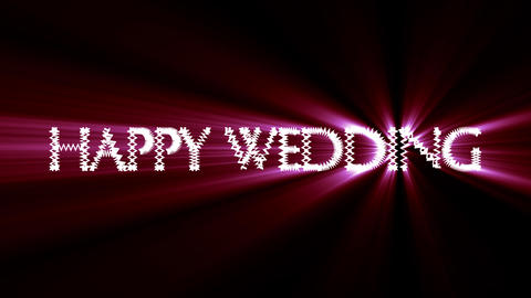 Wedding 2 red loop Animation