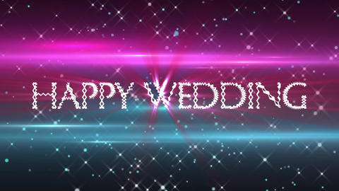 Wedding Pink and Blue Loop CG動画素材