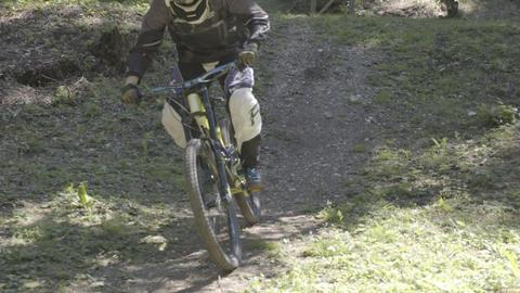 Man on mountain bike Footage