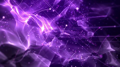 SHA Particle Flow BG Image Violet 動画素材, ムービー映像素材